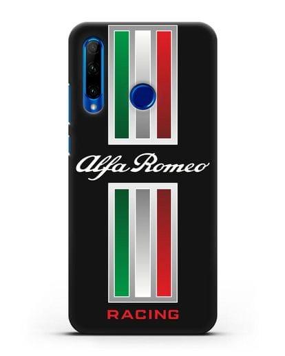 Чехол с логотипом Альфа Ромео силикон черный для Honor 10i