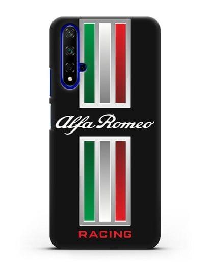 Чехол с логотипом Альфа Ромео силикон черный для Honor 20