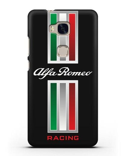 Чехол с логотипом Альфа Ромео силикон черный для Honor 5X