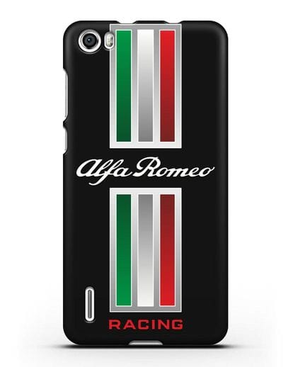 Чехол с логотипом Альфа Ромео силикон черный для Honor 6