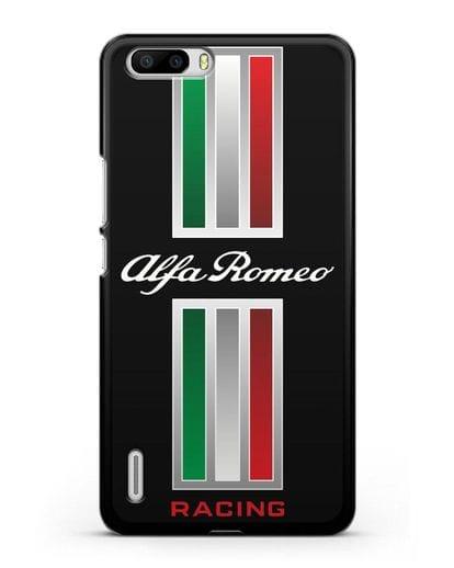 Чехол с логотипом Альфа Ромео силикон черный для Honor 6 Plus