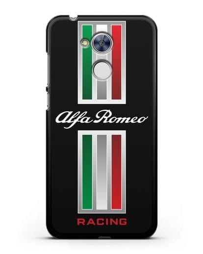 Чехол с логотипом Альфа Ромео силикон черный для Honor 6A