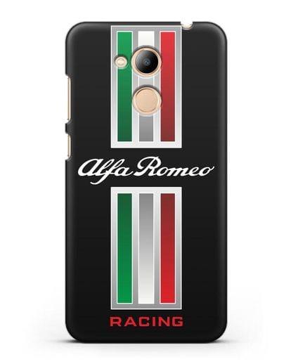 Чехол с логотипом Альфа Ромео силикон черный для Honor 6C Pro