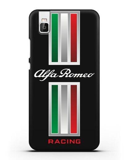 Чехол с логотипом Альфа Ромео силикон черный для Honor 7i