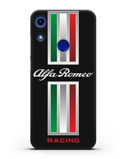 Чехол с логотипом Альфа Ромео силикон черный для Honor 8A