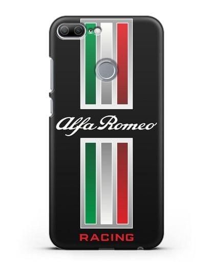 Чехол с логотипом Альфа Ромео силикон черный для Honor 9 Lite