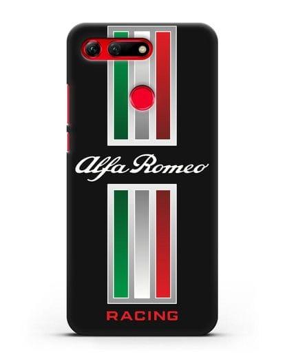 Чехол с логотипом Альфа Ромео силикон черный для Honor View 20