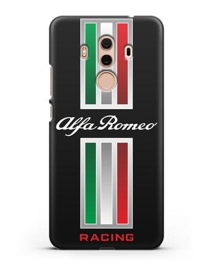 Чехол с логотипом Альфа Ромео силикон черный для Huawei Mate 10 Pro