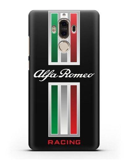 Чехол с логотипом Альфа Ромео силикон черный для Huawei Mate 9