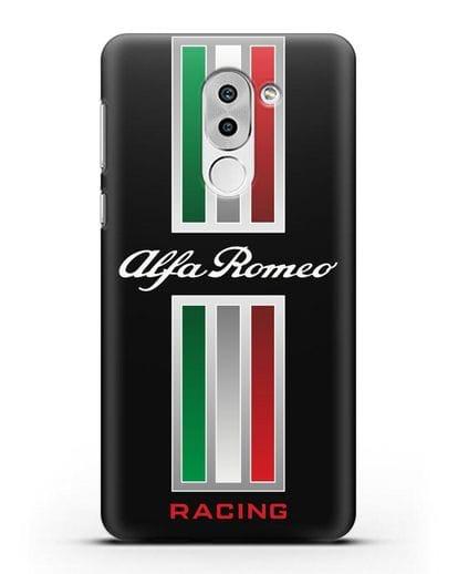 Чехол с логотипом Альфа Ромео силикон черный для Huawei Mate 9 Lite
