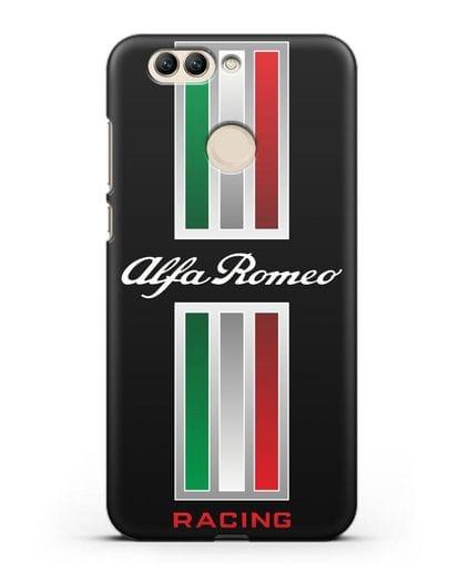 Чехол с логотипом Альфа Ромео силикон черный для Huawei Nova 2 Plus