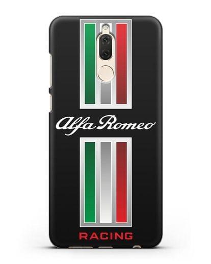Чехол с логотипом Альфа Ромео силикон черный для Huawei Nova 2
