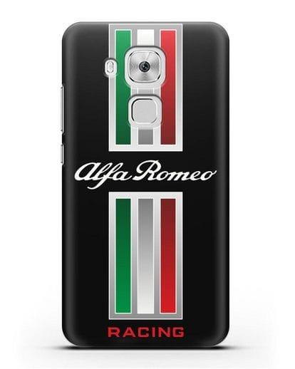 Чехол с логотипом Альфа Ромео силикон черный для Huawei Nova Plus