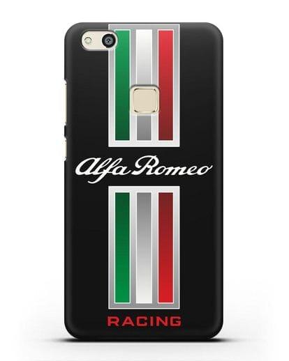 Чехол с логотипом Альфа Ромео силикон черный для Huawei P10 Lite