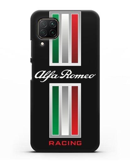 Чехол с логотипом Альфа Ромео силикон черный для Huawei P40 lite