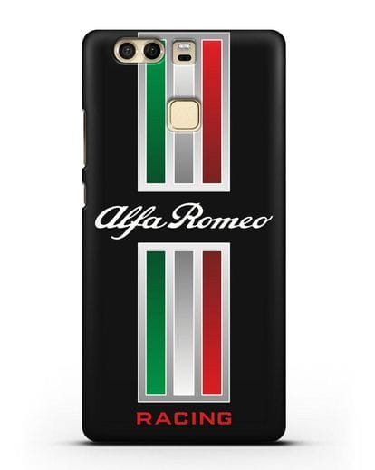 Чехол с логотипом Альфа Ромео силикон черный для Huawei P9