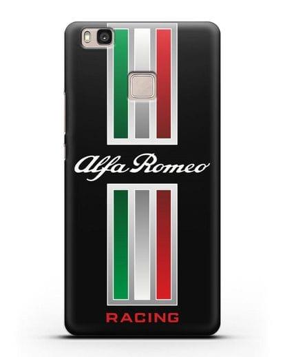 Чехол с логотипом Альфа Ромео силикон черный для Huawei P9 Lite