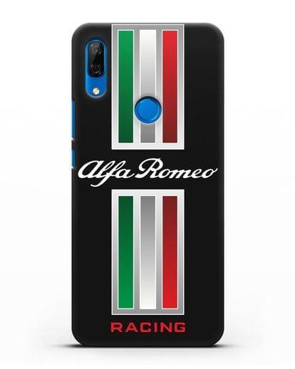 Чехол с логотипом Альфа Ромео силикон черный для Huawei P Smart Z