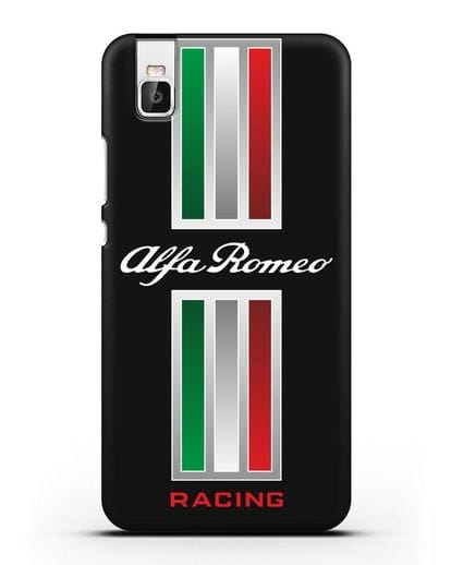 Чехол с логотипом Альфа Ромео силикон черный для Huawei Shot X
