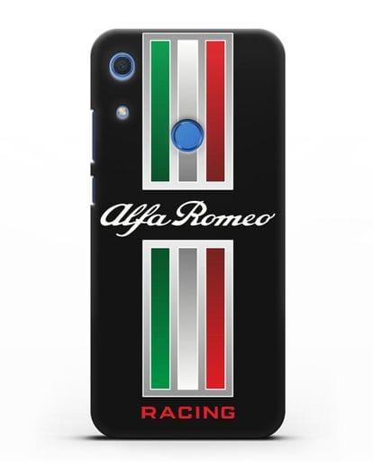 Чехол с логотипом Альфа Ромео силикон черный для Huawei Y6s