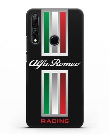 Чехол с логотипом Альфа Ромео силикон черный для Huawei Y9 Prime 2019