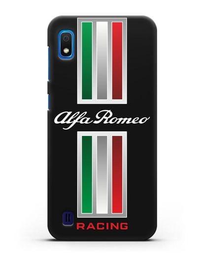 Чехол с логотипом Альфа Ромео силикон черный для Samsung Galaxy A10 [SM-A105F]
