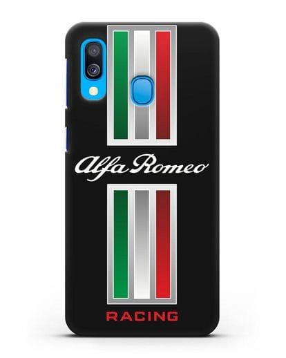 Чехол с логотипом Альфа Ромео силикон черный для Samsung Galaxy A40 [SM-A405F]
