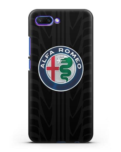 Чехол с эмблемой Alfa Romeo с протектором шин силикон черный для Honor 10