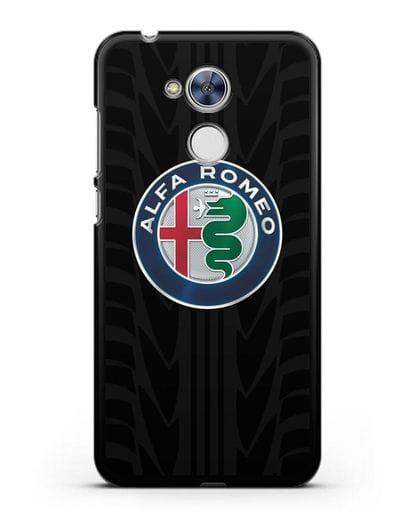 Чехол с эмблемой Alfa Romeo с протектором шин силикон черный для Honor 6A