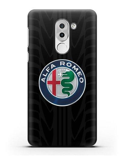 Чехол с эмблемой Alfa Romeo с протектором шин силикон черный для Honor 6X