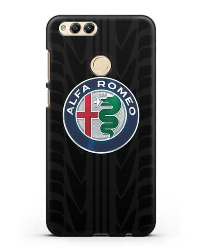 Чехол с эмблемой Alfa Romeo с протектором шин силикон черный для Honor 7X