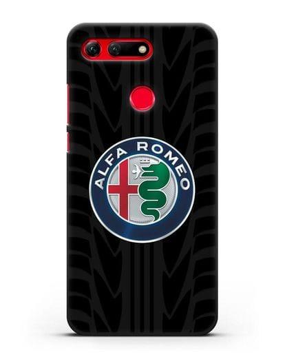 Чехол с эмблемой Alfa Romeo с протектором шин силикон черный для Honor View 20