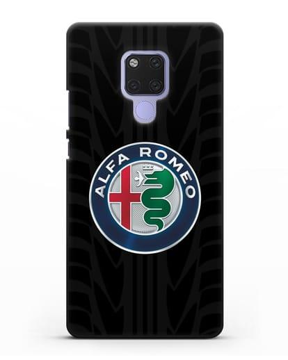 Чехол с эмблемой Alfa Romeo с протектором шин силикон черный для Huawei Mate 20X