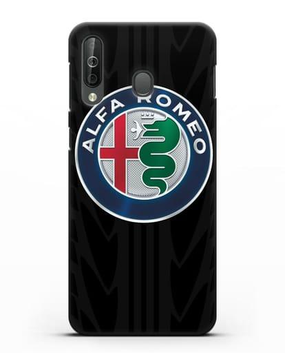 Чехол с эмблемой Alfa Romeo с протектором шин силикон черный для Samsung Galaxy A40s [SM-A507FN]