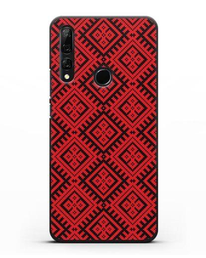 Чехол с белорусским орнаментом и символом Чистота силикон черный для Honor 9X