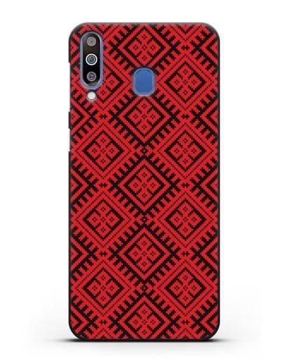 Чехол с белорусским орнаментом и символом Чистота силикон черный для Samsung Galaxy M30 [SM-M305F]