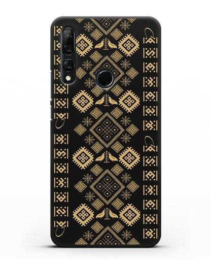 Чехол с белорусским золотым орнаментом и женскими символами силикон черный для Honor 9X