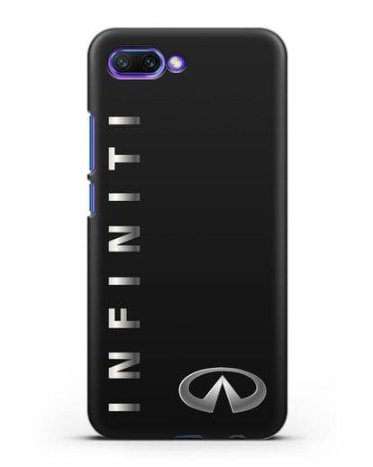 Чехол с надписью Infiniti и логотипом силикон черный для Honor 10