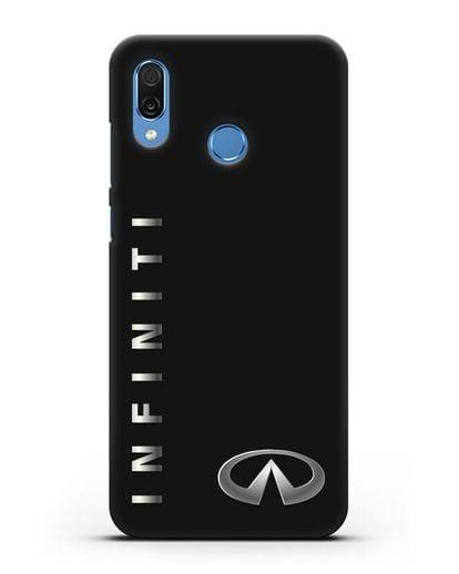 Чехол с надписью Infiniti и логотипом силикон черный для Honor Play