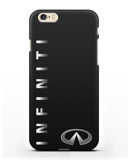 Чехол с надписью Infiniti и логотипом силикон черный для iPhone 6