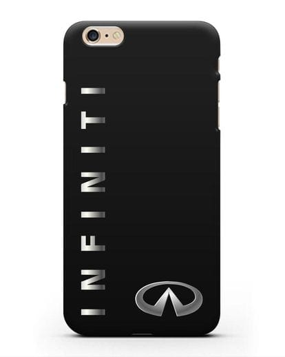 Чехол с надписью Infiniti и логотипом силикон черный для iPhone 6s Plus