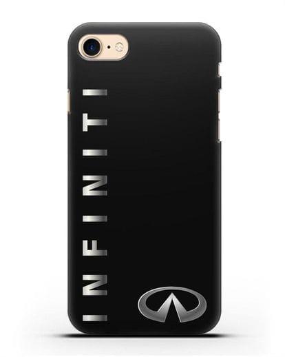 Чехол с надписью Infiniti и логотипом силикон черный для iPhone SE 2020