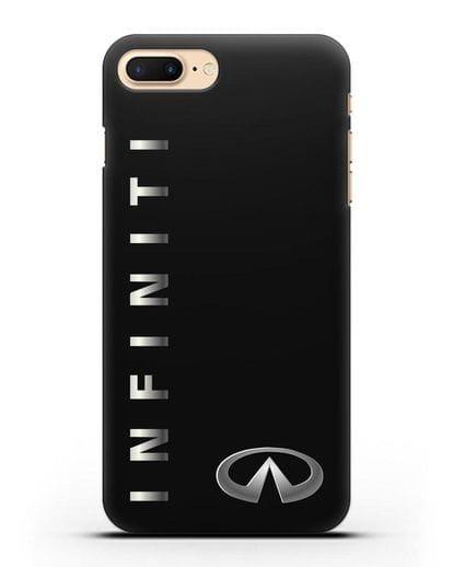 Чехол с надписью Infiniti и логотипом силикон черный для iPhone 7 Plus