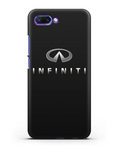 Чехол с логотипом Infiniti силикон черный для Honor 10