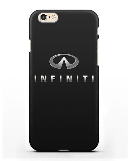 Чехол с логотипом Infiniti силикон черный для iPhone 6
