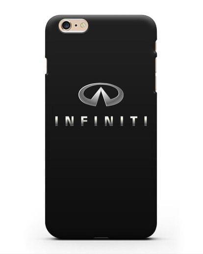 Чехол с логотипом Infiniti силикон черный для iPhone 6s Plus