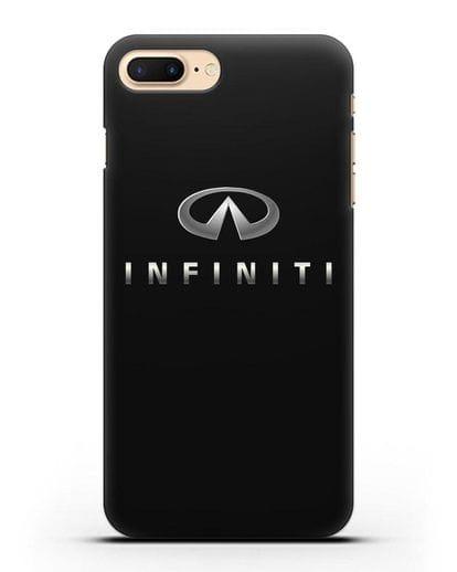 Чехол с логотипом Infiniti силикон черный для iPhone 7 Plus
