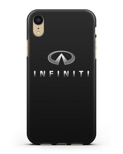 Чехол с логотипом Infiniti силикон черный для iPhone XR