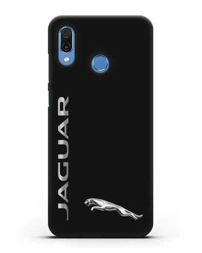 Чехол с надписью Jaguar и логотипом силикон черный для Honor Play