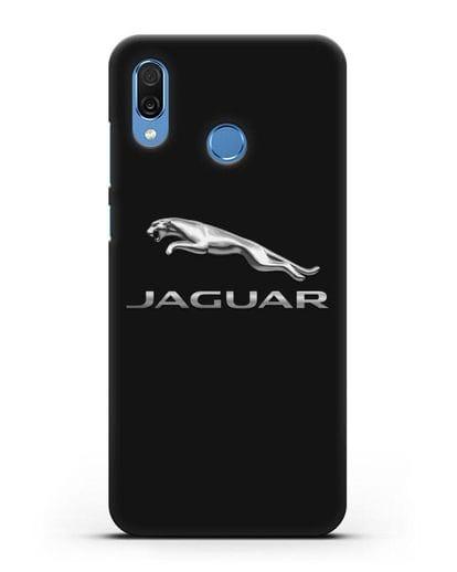 Чехол с логотипом Jaguar силикон черный для Honor Play